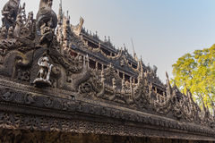 Shwenandaw Kyaung Temple or Golden Palace Monastery in Mandalay, Stock Images