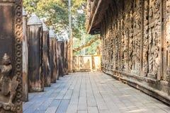 Shwenandaw Kyaung Temple or Golden Palace Monastery in Mandalay, Royalty Free Stock Photos