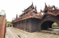 Shwenandaw Kyaung Temple, Mandalay, Myanmar. Stock Images