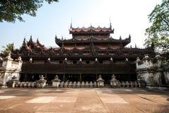 Shwenandaw Kyaung Temple in Mandalay, Myanmar Stock Photos