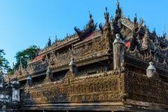 Shwenandaw Monastery Mandalay city Myanmar stock image