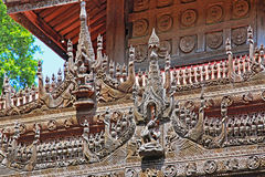 Shwenandaw Monastery Sculpture, Mandalay, Myanmar. Shwenandaw Monastery is a historic Buddhist monastery located near Mandalay Hill, Mandalay Region, Myanmar royalty free stock images
