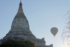 Shwesandaw Buddhist Temple in Bagan, Myanmar Royalty Free Stock Photography