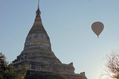 Shwesandaw Buddhist Temple in Bagan, Myanmar Royalty Free Stock Images