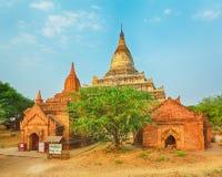 Shwesandaw pagoda in Bagan. Myanmar Royalty Free Stock Photo