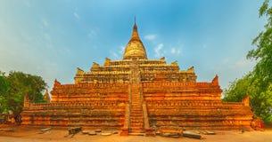Shwesandaw pagoda in Bagan. Myanmar. Panorama Stock Photos