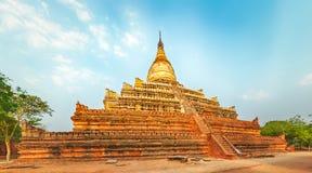 Shwesandaw pagoda in Bagan. Myanmar. Panorama Royalty Free Stock Photography