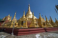 Shwesandaw pagoda in Twante, Myanmar Stock Images