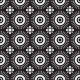 Shweshwe sun pattern in black and white. Seamless shweshwe sun pattern in black and white for fabric and textile design Royalty Free Illustration