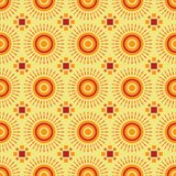 Shweshwe sun pattern. Seamless shweshwe sun pattern design for fabrics and textiles in red and yellow colors Vector Illustration