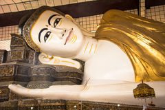 Shwethalyaung斜倚的菩萨在Bago 库存图片