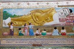 Shwethalyaung Buddha Immagine Stock Libera da Diritti