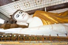 Shwethalyaung Buddha,  Bago, myanmar. Royalty Free Stock Image