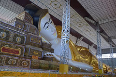 Shwethalyaung Buddha at the west side of Bago (Pegu), Myanmar Royalty Free Stock Photo