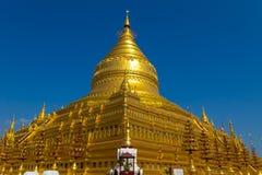 Shwezigon塔,在缅甸(Burmar)的Bagan 库存图片