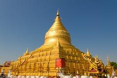 Shwezigon塔,在缅甸(Burmar)的Bagan 图库摄影