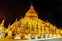 Shwezigon Bagan, Myanmar Arkivbilder