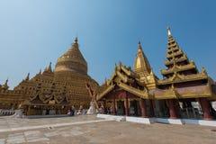 Shwezigon pagod arkivbild