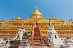 Shwezigon pagod royaltyfria bilder