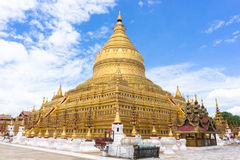 Shwezigon pagoda Fotografia Royalty Free