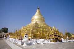 Shwezigon pagoda - ancient town Bagan. Shwezigon pagoda, ancient town Bagan, 12th century, Myanmar (Burma Royalty Free Stock Photography