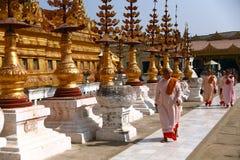 Shwezigon pagoda in Bagan Royalty Free Stock Photography