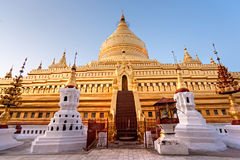 Shwezigon pagoda, Bagan, Myanmar. Royalty Free Stock Photography