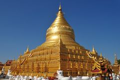 Shwezigon Pagoda Bagan Myanmar Royalty Free Stock Images