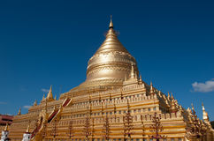 Shwezigon pagoda, Bagan, Myanmar Stock Photo