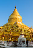 Shwezigon pagoda in Bagan, Myanmar Royalty Free Stock Photography