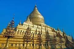 Shwezigon pagoda. Bagan. Myanmar. Royalty Free Stock Photo