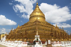 Shwezigon Pagoda , Bagan in Myanmar Royalty Free Stock Images