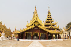 Shwezigon Pagoda in Bagan, Myanmar, Burma Stock Image