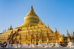 Shwezigon pagoda in Bagan, Myanmar Stock Photography