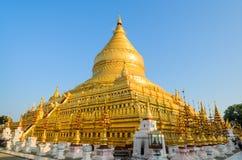 Shwezigon pagoda in Bagan, Myanmar Royalty Free Stock Photo