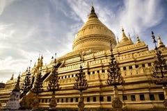 Shwezigon Pagoda in Bagan Myanmar royalty free stock photography