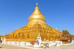 Shwezigon Pagoda in Bagan Royalty Free Stock Photos