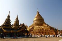 Shwezigon pagoda in Bagan Royalty Free Stock Photo