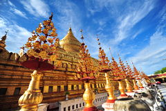 Shwezigon Pagoda, famous for its gold-leaf stupa in Bagan Royalty Free Stock Photos