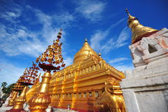 Shwezigon Pagoda, famous for its gold-leaf stupa in Bagan Stock Image