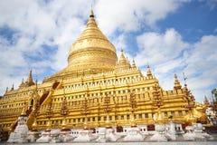 Shwezigon Pagoda and monastery. Stock Photo