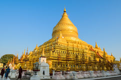 Shwezigon pagoda, Myanmar Stock Photo