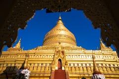 Shwezigon Pagoda in Nyaung-U, Bagan, Myanmar Stock Images