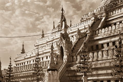 Shwezigon Pagoda, Nyaung-U, Burma Royalty Free Stock Photography