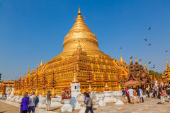 The Shwezigon Pagoda Royalty Free Stock Photography