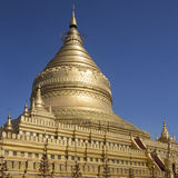 Shwezigon pagoda Bagan, Myanmar - Zdjęcie Stock