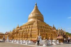 Shwezigon pagoda w Bagan, Myanmar Obraz Stock