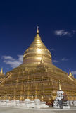 Shwezigon Pagodain in Bagan. Myanmar Royalty Free Stock Photography