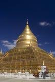 Shwezigon Pagodain em Bagan Fotografia de Stock Royalty Free