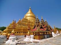 Shwezigon Paya塔,地标在Bagan 库存照片